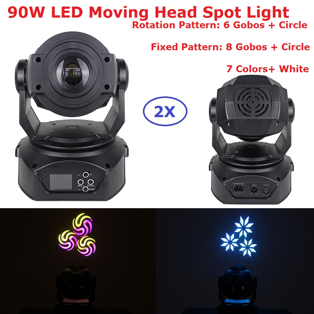2Pack Carton Package 90W LED Moving Head Spot Stage Lighting 14 DMX Channel Hi-Quality 90W 3 Prism Led Moving Head Lights футболка для беременных printio linkin park