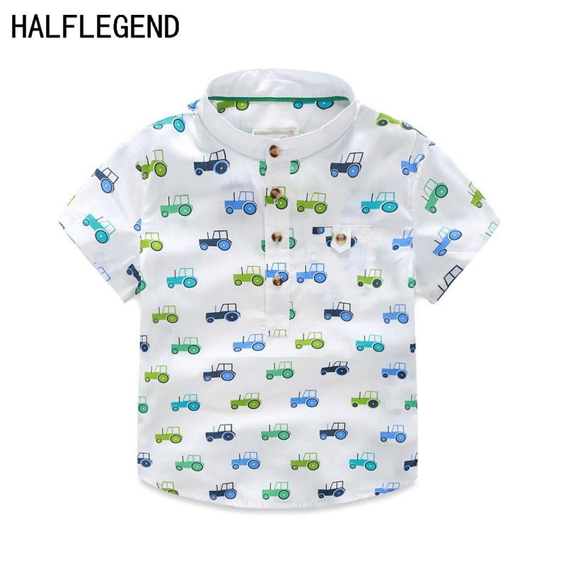 2016 Boys Shirt fashion kids clothes boys Children's short-sleeved shirt Cartoon Clothing children shirt for boys 2-10Y Top стоимость