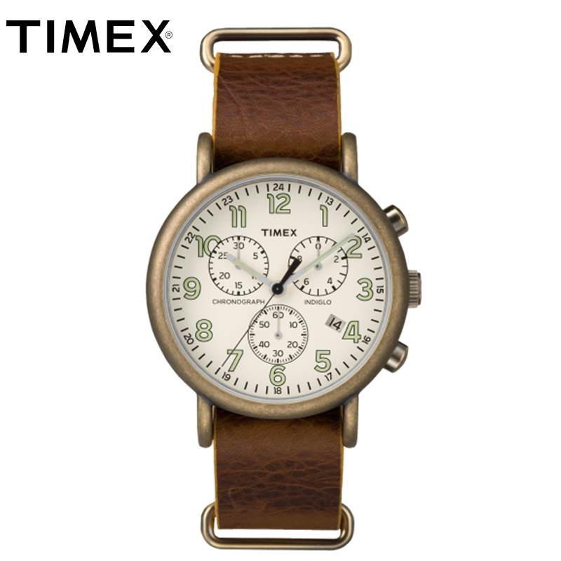 2018 Real For Timex Original Mens Watches Tw2p853 Weekender Multi function Chrono Indiglo Backlight Waterproof Male Watch