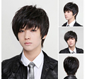 Wig men Top Short Mens Wig Cosplay  Hot Selling Synthetic Heat Resistent Wigs+Cap Free Shipping