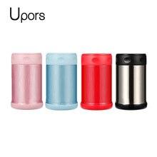 UPORS 500 ML Thermos für Lebensmittel mit Container Edelstahl Vakuum Suppe Thermos Glas Schule Bento Lunchbox für Kinder