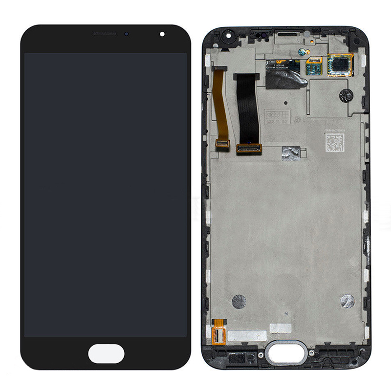 +Frame Black LCD Display + Touch Screen Digitizer Assembly Replacements For 5.5 Meizu MX5 MX 5 Free Shipping