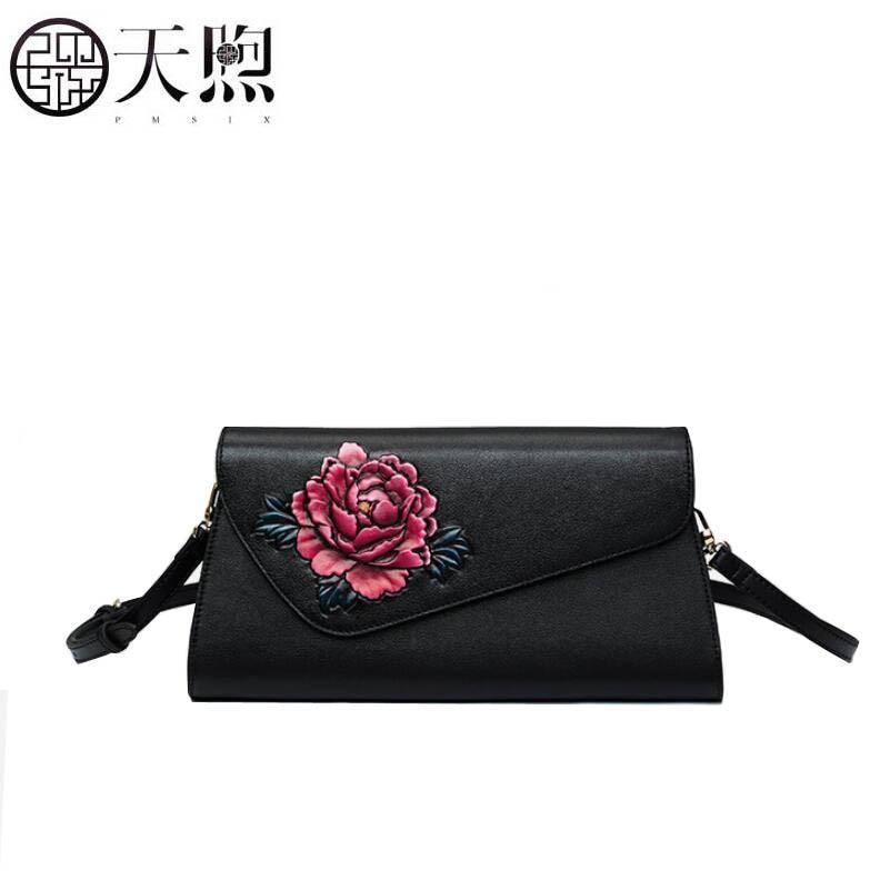 Ehrgeizig Pmsix 2019 Neue Frauen Aus Echtem Leder Kupplung Tasche Überlegene Handtasche Mode Präge Abend Tasche Luxus Frauen Handtaschen Leder Tasche Gepäck & Taschen