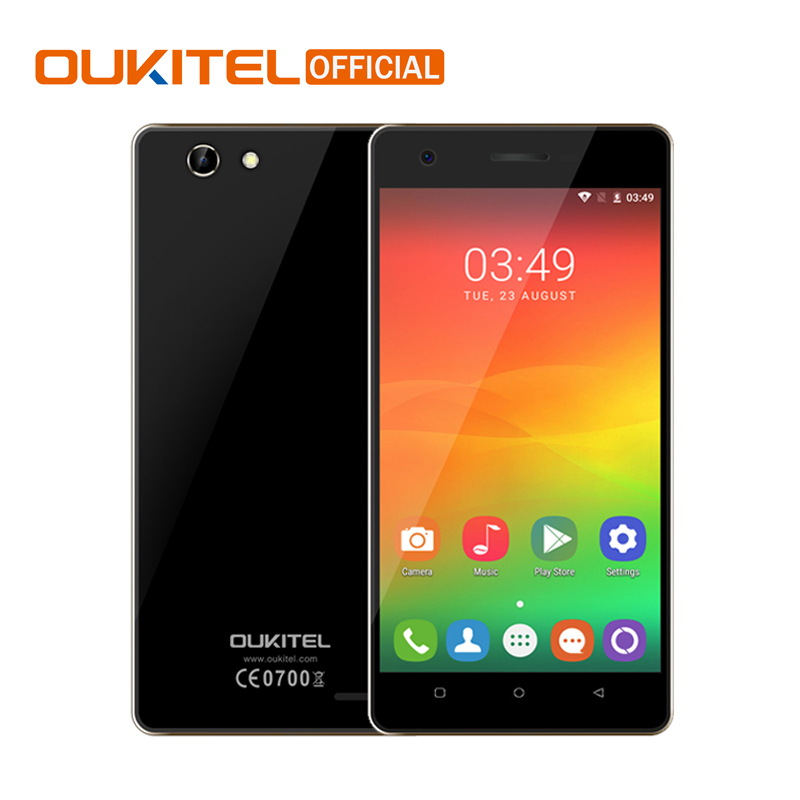 Oukitel C4 5.0 Inch HD Screen 2000mAh Smartphone MTK6737 Quad Core Cell Phone Android 6.0 1GB RAM+8GB ROM Mobile Phone