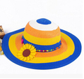 Fashion colorful big brim children's Straw hat foldable sunflower cap Baby girl summer hat Girl sun hat Beach visor hat