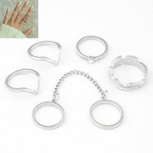 1 Set Elephant Ring Style Gold Color Knuckle Rings For Lovers' Finger Knuckle Rings(China)