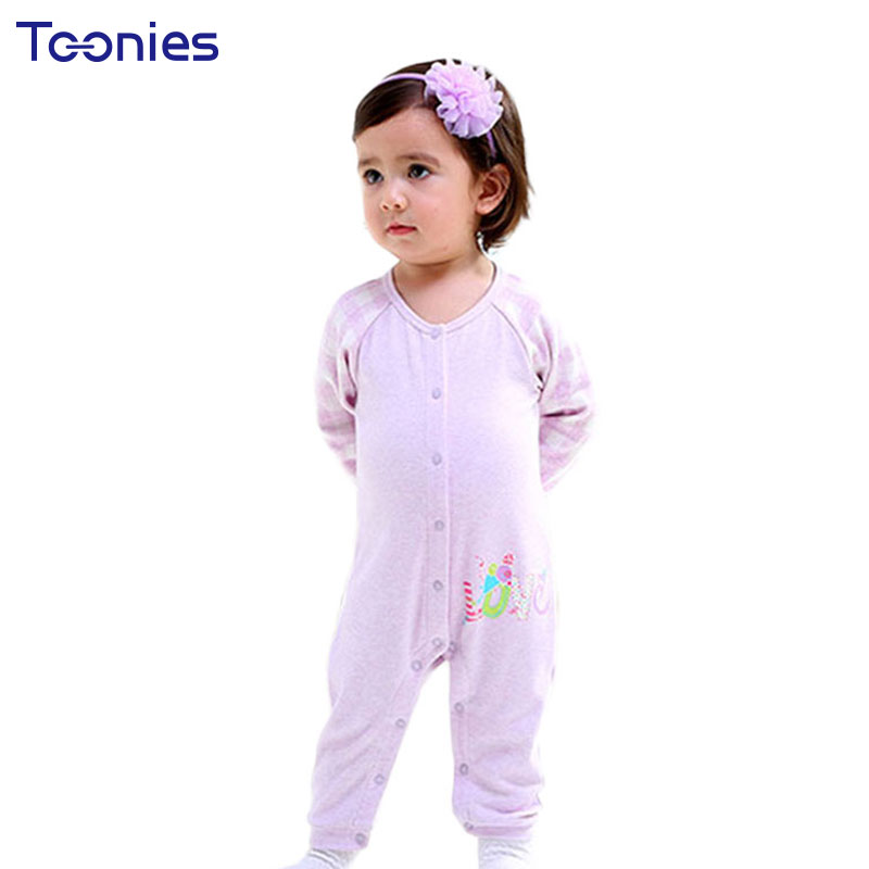 6-24M Newborn Rompers 2018 Winter Climbed Clothes Thick Casual Kids Pajama Cute Cartoon Stripes Baby Jumpsuit Warm Cotton Romper