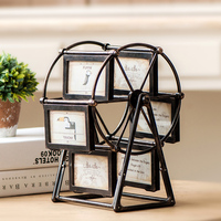 Ferris Wheel Rotate Picture Multi Frame European Retro Large Windmill Children Room Photo Frames Wedding Home Decor