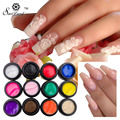 Saviland 12 Colors DIY Glitter Sculpture Gel Nail 3D Carved Glue UV Gel Nail Art Modelling Painting Adornment Tools