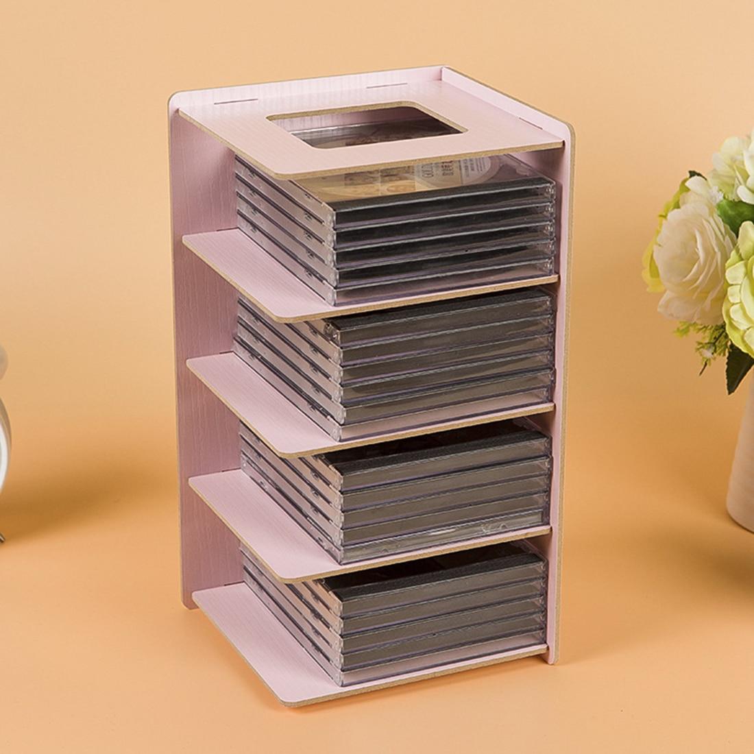 Kreative Holz DIY Desktop Buch CD Lagerung Sortierung Buchstützen Büro  Regale