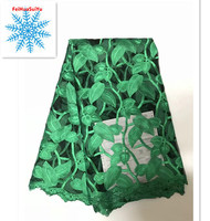 Fashion embroidery lace fabric High Quality leaves pattern design openwork Eyelashes African tulle lace mesh net fabric rfm301