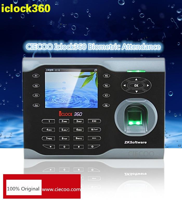 8000 fingerprints time attendance TCP/IP fingerprint time clock machine iclock360 Webserver,9 digit user ID,Wi-Fi option records