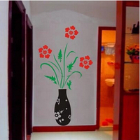 Natural flower single piece package 3D Vinyl art Wall sticker bed room Decor Bedroom wall stickers home decor 130*70cm