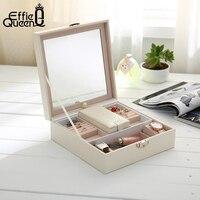 Effie Queen Sieraden Verpakking Kist Doos Voor Exquisite Make Case Cosmetica Beauty Organizer Container Dozen Gift DSO03