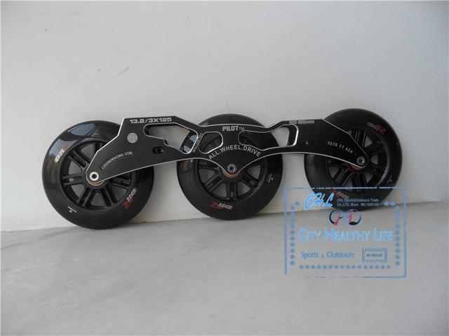 Pilot 3*125mm Speed Skating Frame With 125mm Edger Skating Wheels ...