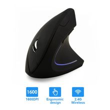 CHYI Ergonomics Vertical Wireless Mouse Gaming USB Optical Mice 1600DPI 5 Buttons Computer Game Muase For PC Laptop memteq 3d wireless bluetooth 3 0 mini optical computer mouse 6 buttons mice 1600dpi for laptoptablet pc 10m working distance