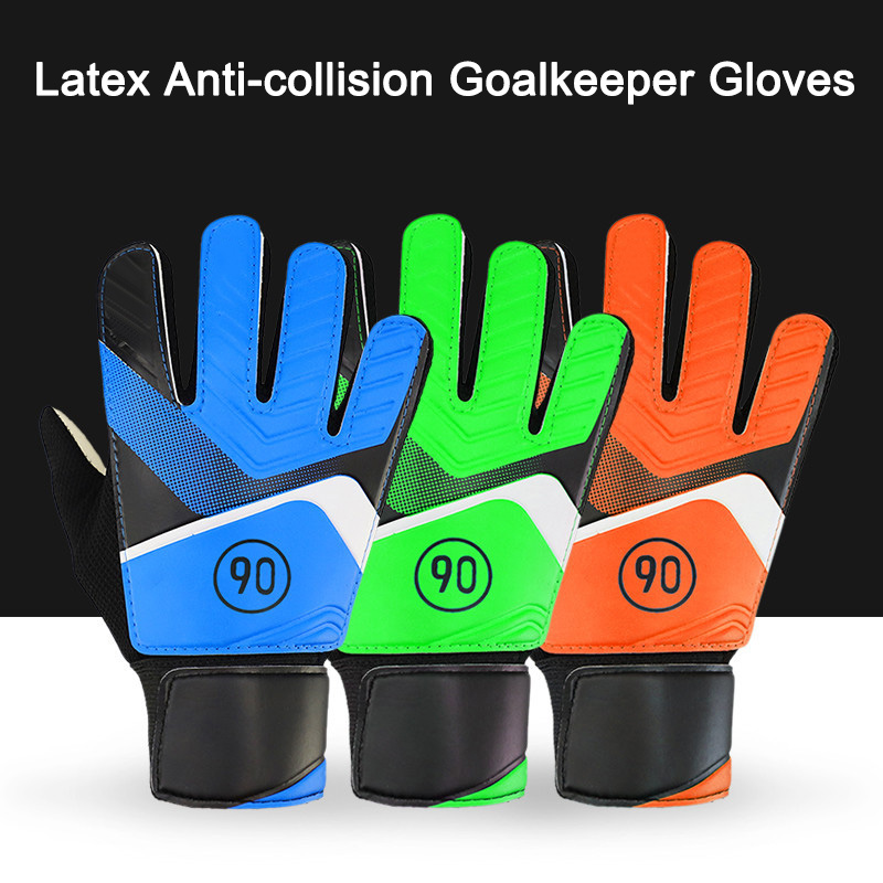 Professional Goalkeeper Kids Gloves Finger Protection Thickened Latex Soccer Football Tools Gloves Goal Keeper Gloves Goalkeepe