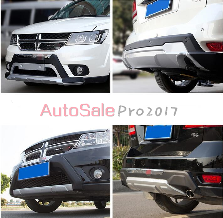 For Dodge Journey 7 Seats 2012 2013 2014 Plastic Front & Rear Bumper Skid Plate Protector Guard