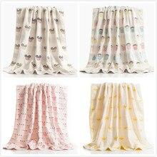 Cotton Gauze Adult Cartoon Towel Bath Textile Large Thick Hotel Bathrobe Beach Shawl Children Blanket Quilt