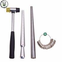 Anel ampliador vara mandrel lidar com martelos anel sizer dedo medição vara jóias ferramentas sobre 25 28 28cm/1.1cm f80