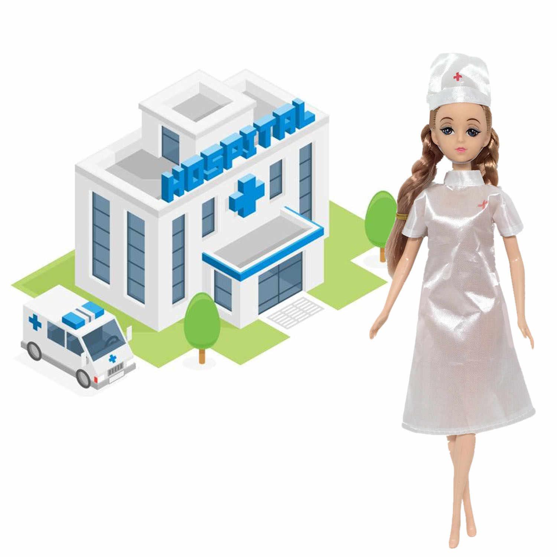 4 набора кукла игрушка медсестры и доктора Карьера Одежда наряды Аксессуары для Барби игрушки для детей день рождения Рождественский подарок