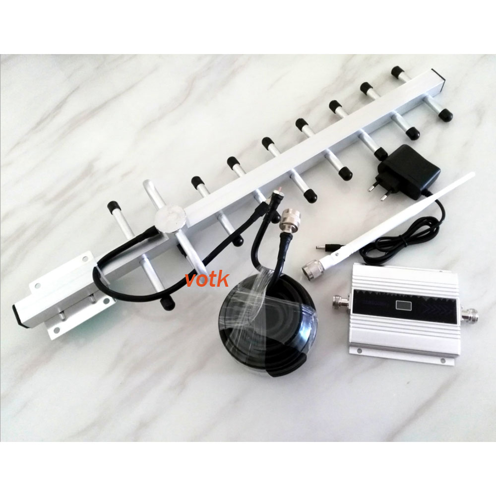 Amplificateur de signal mobile GSM 900 mhz répéteur de signal avec amplificateur de signal e avec câble LCD 13dbi yagi