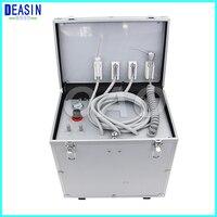 130Л/мин воздушный поток переносная стоматологическая установка с высокой и низкой скоростью трубы, 3 пути шприц, воздушный компрессор