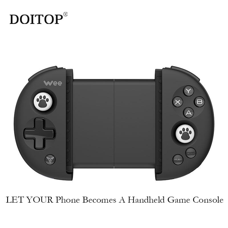 DOITOP Wee Wireless Bluetooth Gamepad Smart Phone Game Controller joystick 3.5-6.3 Stretching Gaming Game pad For IOS Andriod xunbeifang 2pcs for nes30 wireless bluetooth game controller gamepad bluetooth arcade game stick joystick for ios for android