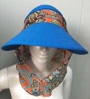 Chapéu de golfe cap Lady Viagem Folding Versão Coreana do Sol de Verão Mulheres OutdoorHat Anti-ultravioleta Algodão Da Menina de Flor chapéu