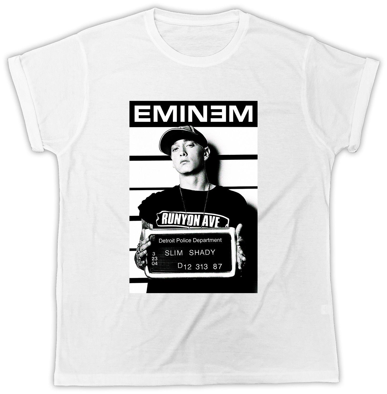 Eminem T-Shirt Rap MArshall Mathers Slim Shady Mug Shot Unisex T Shirt