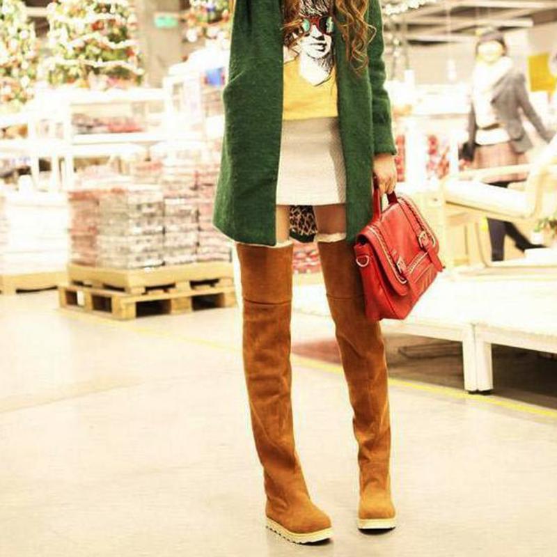 Del Plano Zapatos Invierno Alta 922 Fondo La Mujer yellow Larga Rodilla Sobre Gamuza 2019 Nueva Muslo brown Moda gray Botas Black De WwfgnqO08