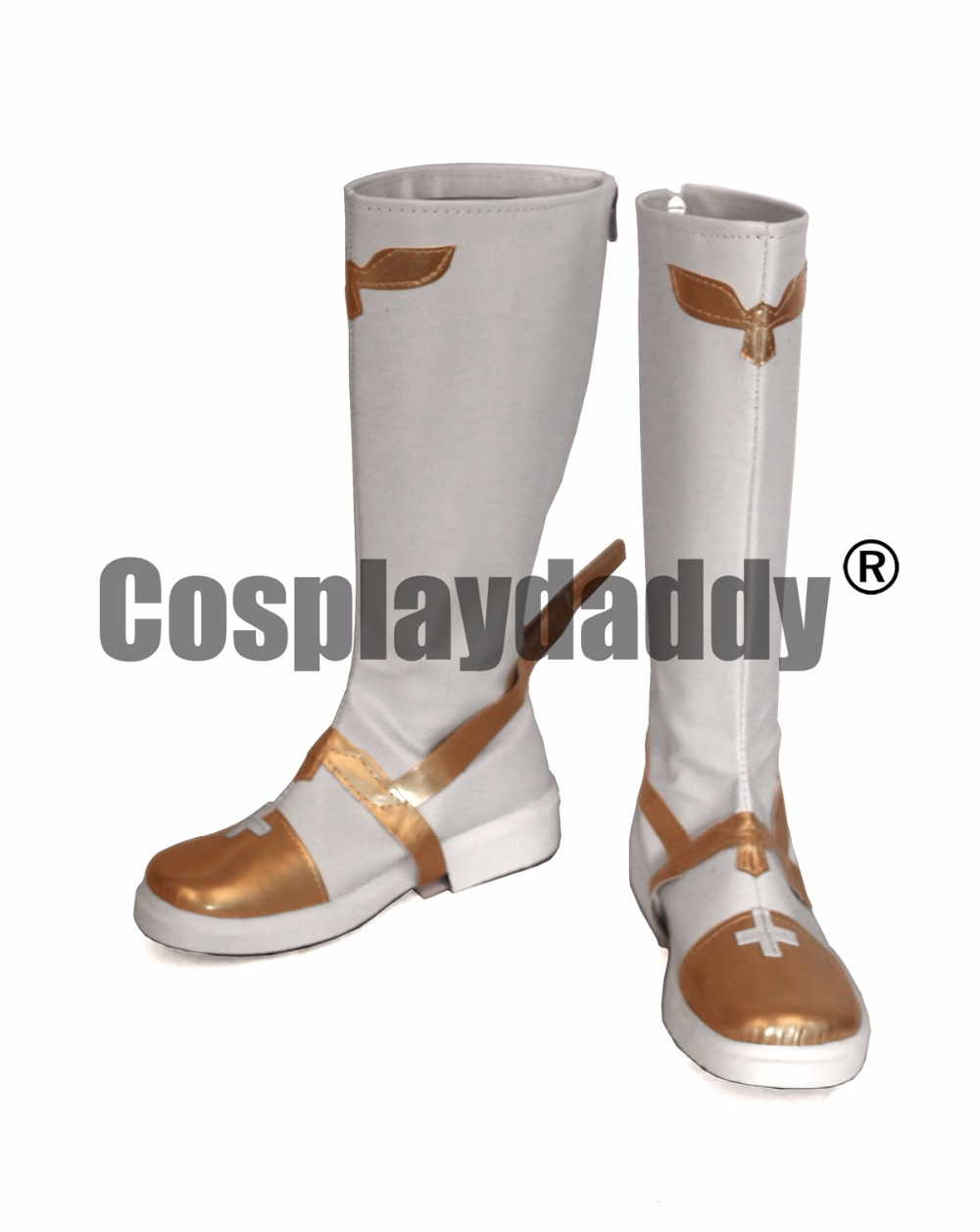 Fate Apocrypha Rider of Black Faction Twelve Paladins of Charlemagne Astolfo White Cosplay Boots Shoes S008