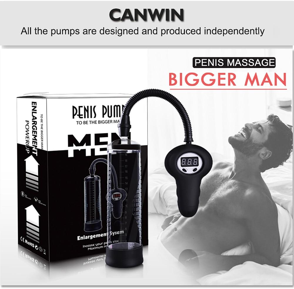 CANWIN Electric Penis Pump Enlargement Electric Vacuum Pump Penis Digital Vacuum Extender Increase Exercise Male Sex Product цены онлайн