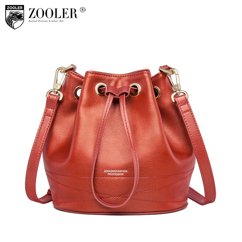 New bucket bag!ZOOLER genuine leather bags for women 2018 luxury&hot cross body bag lady women shoulder bag bolsa feminina#R120 zooler genuine leather bags for women capacity real leather bag luxury casual for lady high quality bags bolsa feminina 2109