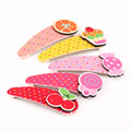 5 Pcs/lot Color Pringting Carton Hair Grips Baby Girls' Hair Clips Hairpin Kids Accessories