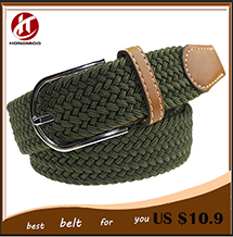 2014 high fashion casual braided belt for men with pin buckle free shipping