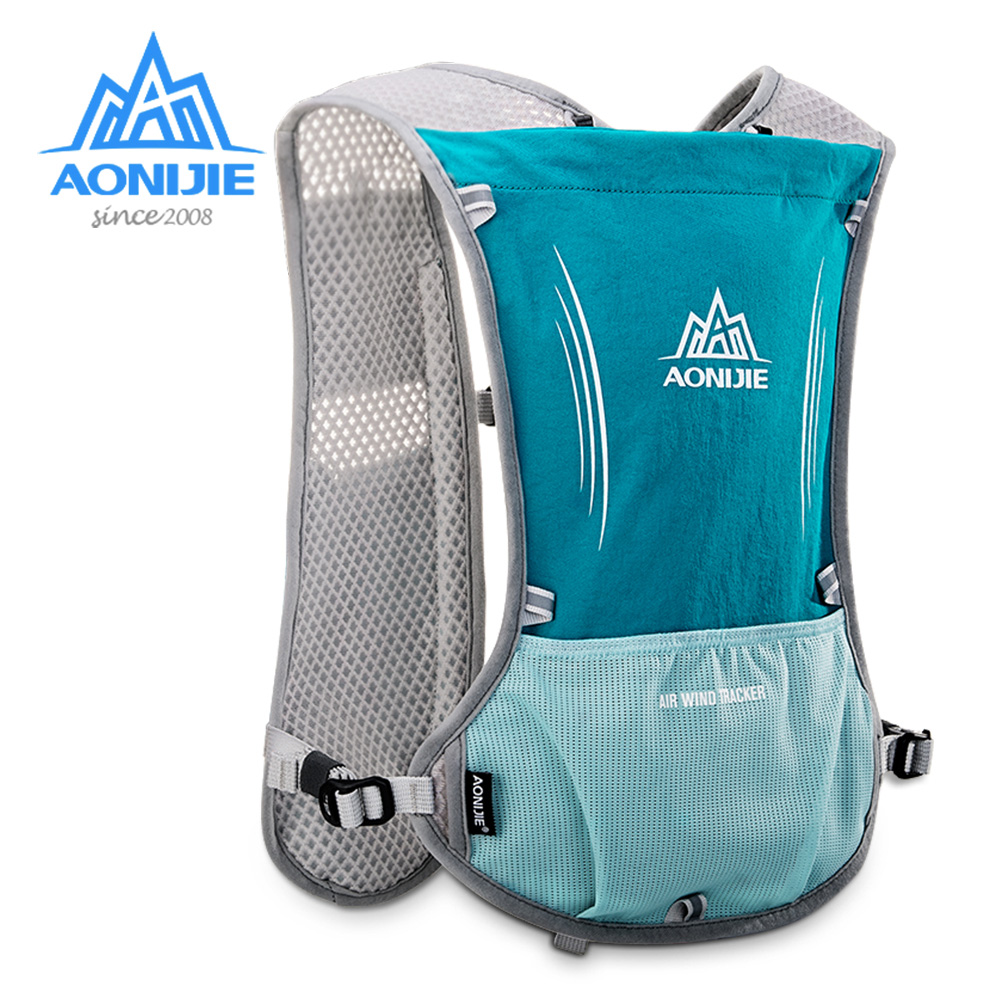 Adroit Aonijie E913s 5l Hydration Backpack Rucksack Bag Vest Harness 1.5l Water Bladder Hiking Camping Running Marathon Race Cycling Nourishing Blood And Adjusting Spirit Sports & Entertainment Running