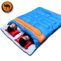 Neue praktische doppel person schlafsack outdoor camping Erwachsene schlafsack liebhaber paar reise warme wetter verwenden schlafsack