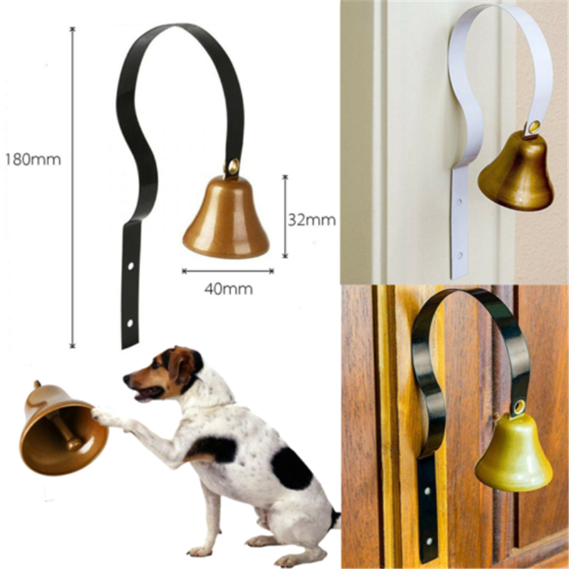 High Quality Dog Metal Chink Bell House Breaking Potty Training Pet Doorbell Hot New Pet Dog Trainings Dog Drill Doorbell-0