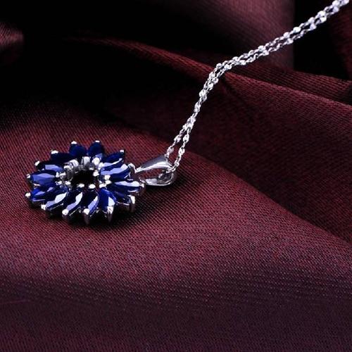 Ожерелье колье QI Xuan_Dark синий камень сердца кулон Necklace_Real Necklace_Quality Guaranteed_Manufacturer непосредственно продаж