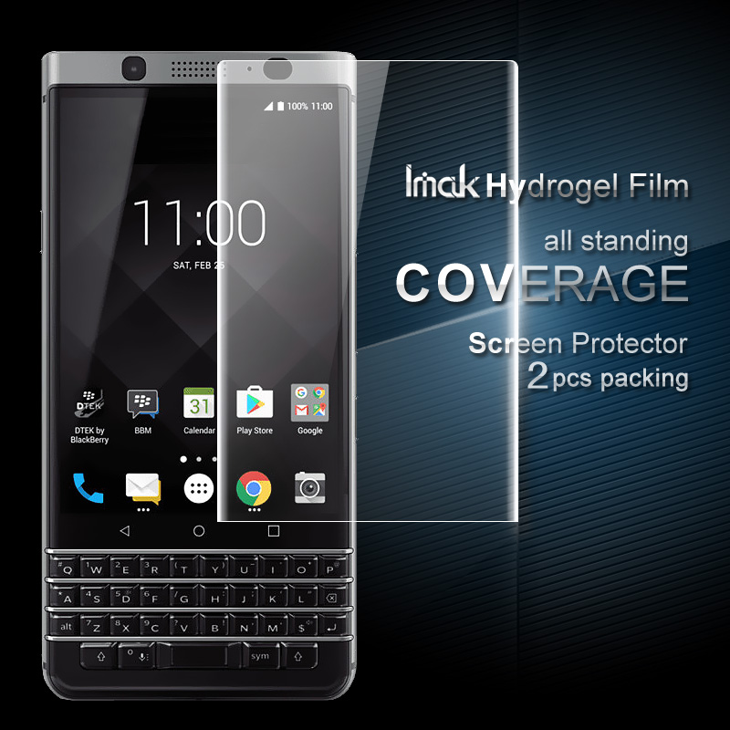 For BlackBerry KEYone Protector Film iMAK Hydrogel Coverage Soft Protective Screen
