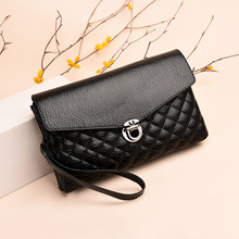 2019 latest single shoulder PU solid color high quality summer square diamond personality hand fashion soft messenger bag