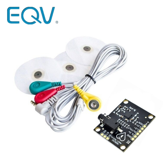 EQV <font><b>Ecg</b></font> module AD8232 <font><b>ecg</b></font> measurement pulse heart <font><b>ecg</b></font> monitoring sensor module kit for <font><b>Arduino</b></font> UNO R3 image