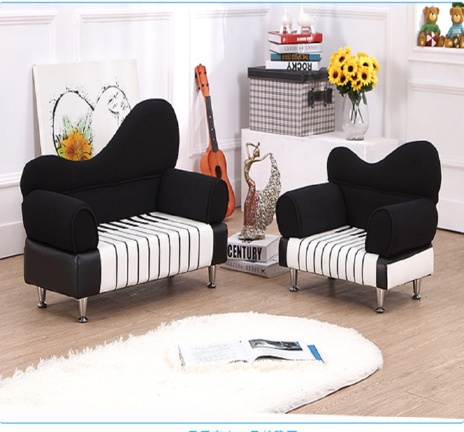 Cute Baby's Room Children/kids PU Piano Sofa Furniture Living /bed Room Kits Assembly Piano 2 Seats Sofa