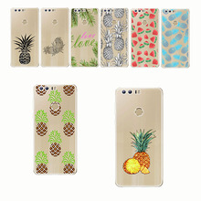 Summer Fruit Pineapple Watermelon Lemon Phone Cases Transparent soft silica gel Mobile phone shell for huawei Honor8 9 10 lite