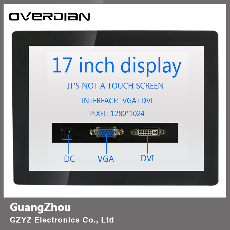 все цены на 17inch/17 VGA/DVI Connector Iron Frame Buckle LCD Monitor/Display 1280*1024 Non-Touch screen Resolution4:3 Contrast Ratio 500:1 онлайн