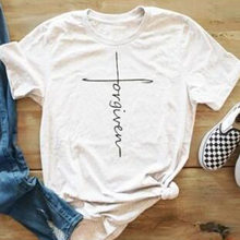 7550fadd Cross Forgiven Letter Print Summer Tshirt Short Sleeve Tumblr Fashion Top  Unisex For Women Plus Size Befree T Shirt Tee Hot Sale