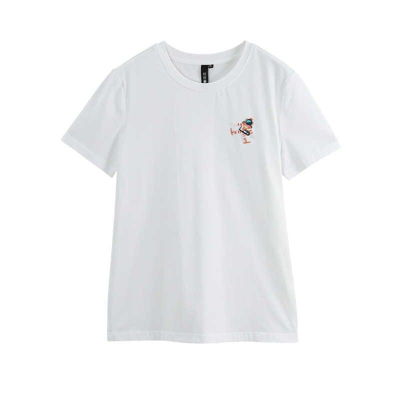 Toyouth 2019, женская летняя футболка, повседневная, короткий рукав, мультяшный принт, свободная, Круглый ворот, рубашка, женские хлопковые топы