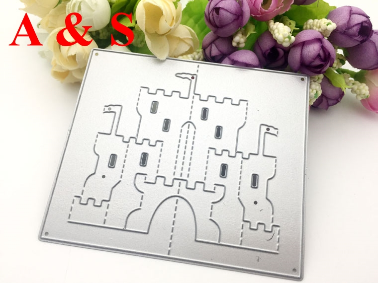 C20 Metal Cutting Dies 3D stereo house palace castle Scrapbook card paper craft home decoration embossing stencils cutter
