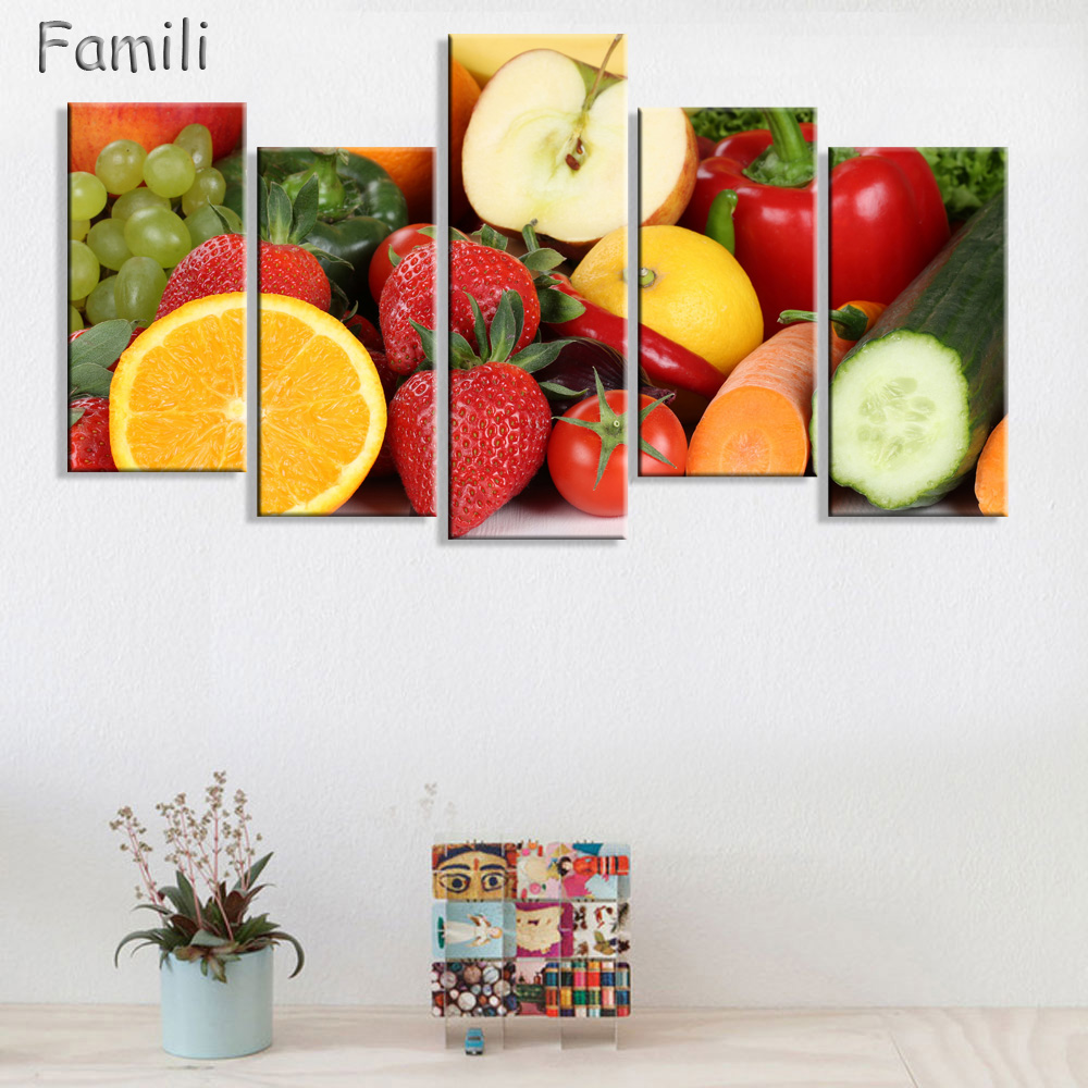 Paintings For The Kitchen Fruit Wall